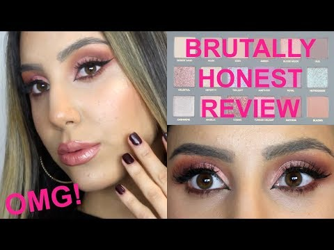 BRUTALLY HONEST HUDA BEAUTY DESERT DUSK REVIEW! (TUTORIAL + SWATCHES) HIT OR MISS