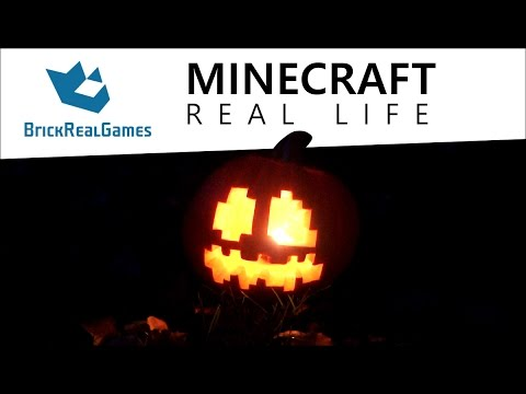 Minecraft Real Life - How to make Jack o'Lantern - BrickRealGames