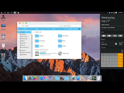 Mac OS Sierra SkinPack for Windows 7/8.1/10