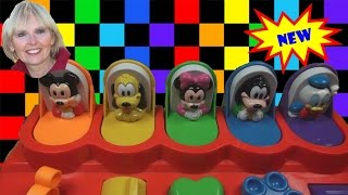♥♥   Pop Up Toy with Mickey Mouse Pluto Minnie Donald Goofy