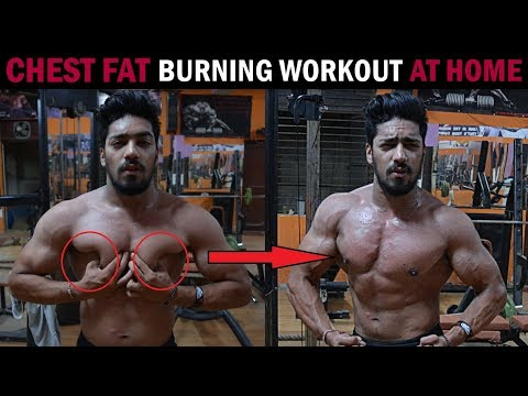 CHEST FAT BURNING WORKOUT AT HOME - NO EQUIPMENT !!