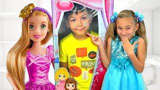 Sasha and New Rapunzel doll