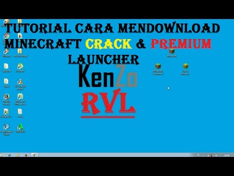 Tutorial Cara Mendownload Minecraft Launcher Crack & Premium di PC! Serta CARA DOWNLOAD MINECRAFT