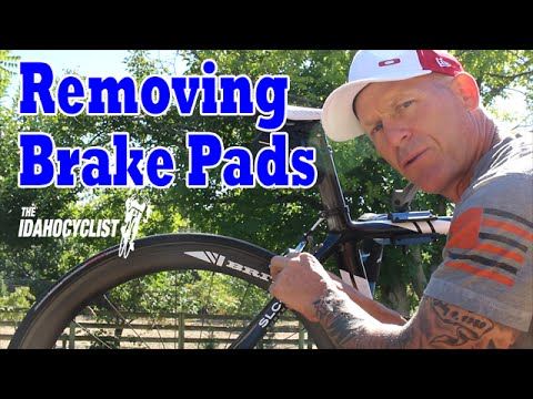 Removing & Cleaning Bike Brake Pads.  Race Preparation Tips.