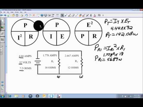 Power in a DC Parallel Circuit