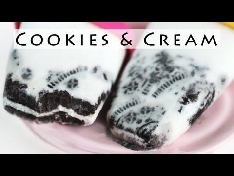 Oreo Cookies and Cream Popsicle Recipe 오레오 아이스바 만들기