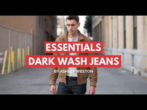 Dark Wash Jeans/Denim - Men's Wardrobe Essentials - indigo, blue