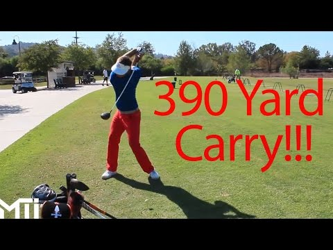 390 Yard Carry Hits Pro Shop! Long Drive Competitor Jim Waldron