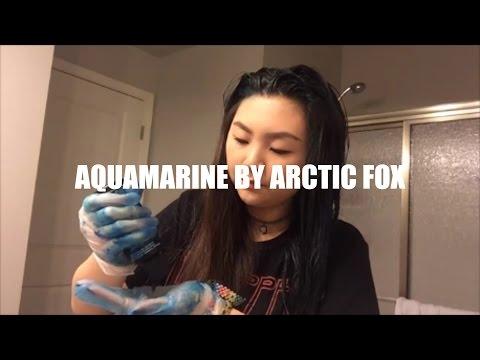 DYING MY HAIR AQUAMARINE BY ARCTIC FOX