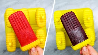 5-Ingredient Fruit And Herb Popsicles •Tasty