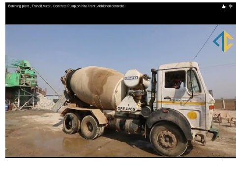 Batching plant , Transit Mixer , Concrete Pump on hire / rent, Abhishek concrete