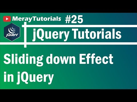 jQuery: 25 - Sliding down Effect in jQuery