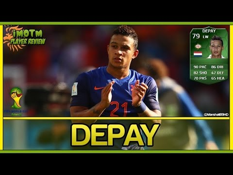 FIFA 14 UT - iMOTM Depay || World Cup iMOTM Ultimate Team 79 Player Review + In Game Stats