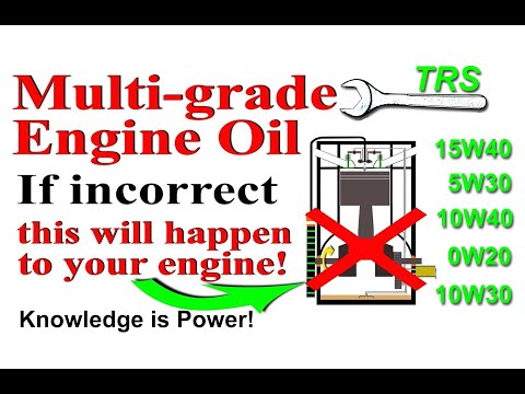 Multi grade Engine Oil, Using the Wrong Type of Oil Will do this to your Engine