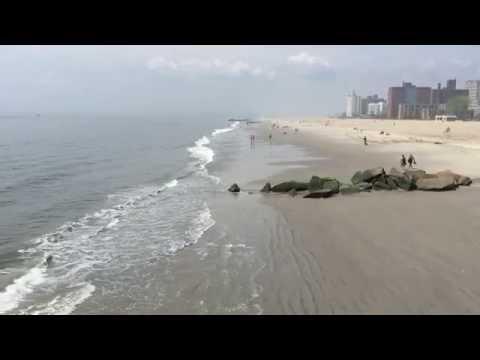 Coney Island beach New York city USA