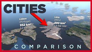 CITIES size Comparison ► 3D Animation