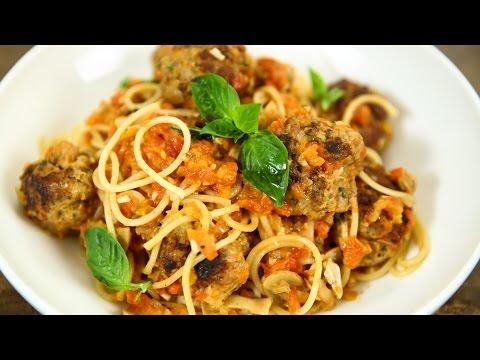 How To Make Spaghetti And Meatballs | Spaghetti Meatballs Recipe | Italian Recipes | Varun Inamdar