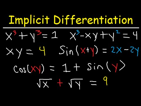 Implicit Differentiation Second Derivative Trig Functions & Examples- Calculus