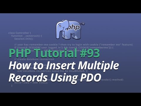 PHP Tutorial - #93 - How to Insert Multiple Records Using Prepared Statements (PDO)