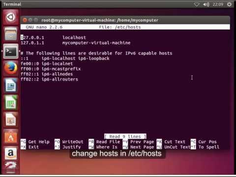 how to change hostname in ubuntu 14.04