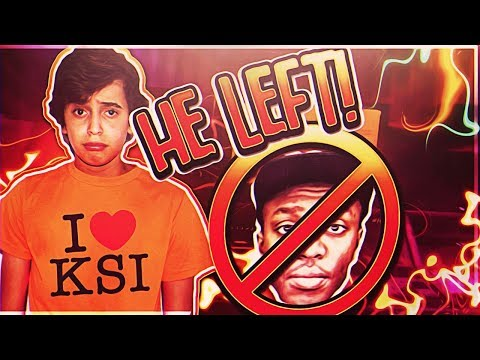 TELLING MY LITTLE BROTHER KSI IS LEAVING THE SIDEMEN! (he nearly cried..)