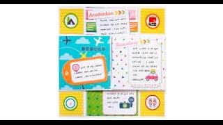 Entra aquí ahora: http://anitaysumundo.com/tarjeta-scrapbook-sin-fin/  y aprender a crear una tarjeta scrapbook o felicitación como esta paso a paso.