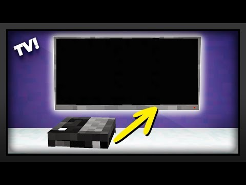 Minecraft - How To Make A Flat Screen TV