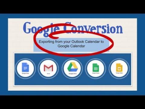 GC 5 Exporting Your Outlook Calendar into Your Google Calendar (From Outlook Desktop)