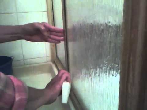 How To clean glass shower door - remove scum and rust