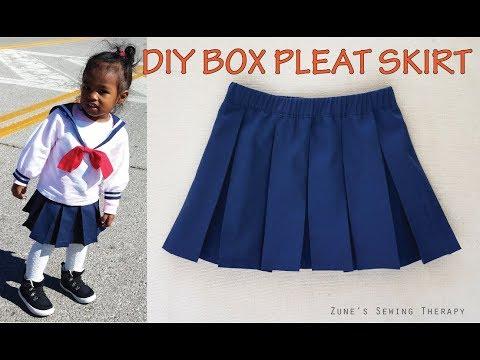 DIY: Kids Box Pleat Skirt with Elastic Waist