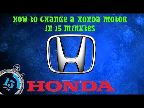 how to change honda motor mount in 15 minutes