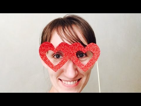 Make Heart Glasses Photo Booth Props - DIY Crafts - Guidecentral