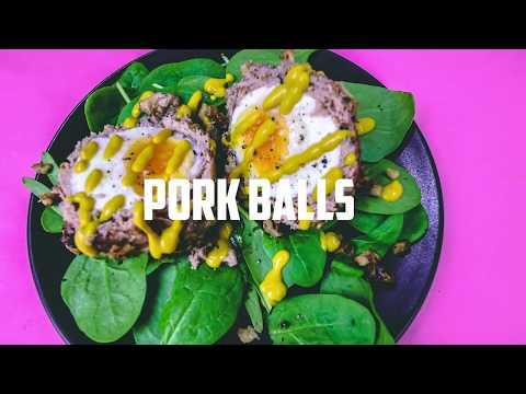 Low Carb High Fat Keto Recipes - BIG PORK BALLS! - Keto scotch eggs -