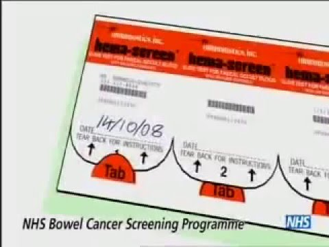 NHS Bowel Cancer Screening Test Kit Instructional Animation