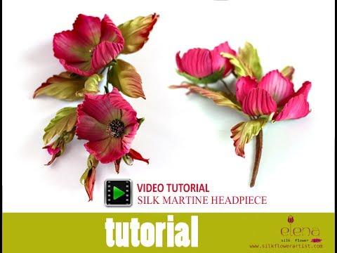 How no make silk flowers - Martina video tutorial