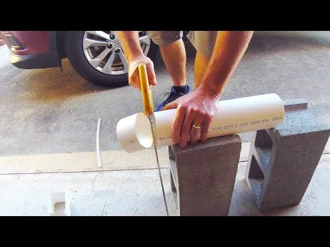 Cutting PVC Pipe with a Pruning Saw