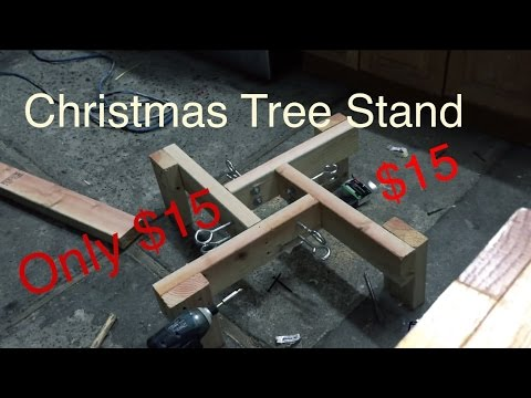 How to build Christmas tree stand for cheap $15