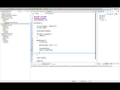 Learn Advanced C++ Programming  parsing text files