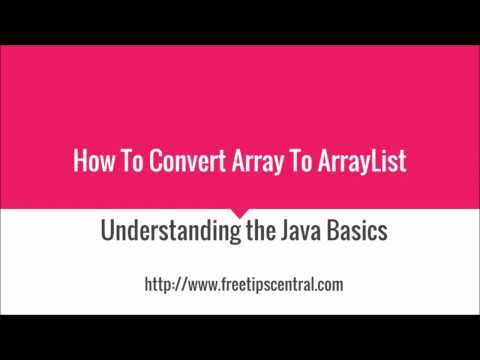 How To Convert Array To ArrayList