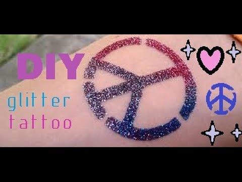 DIY glitter tattoo ! كيف تسوي تاتو
