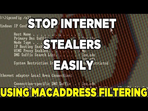 How to Prevent Neighbors from Using your Wi-Fi Network/MacAddress Filtering