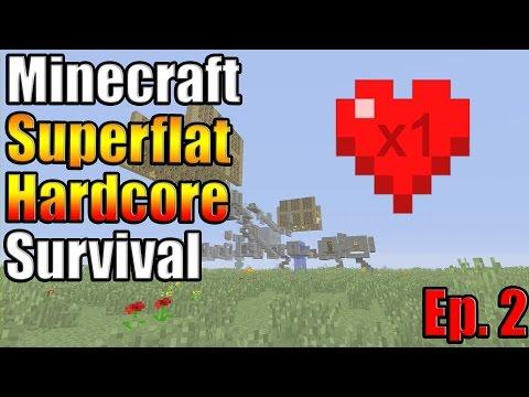 Minecraft Xbox One Superflat Hardcore Survival Ep. 2