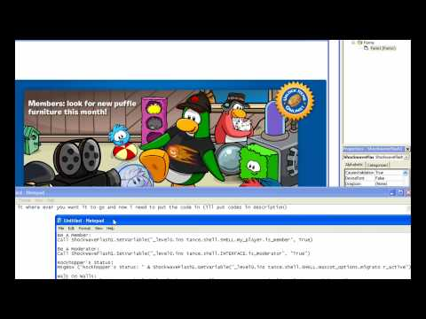 ClubPenguin How To make A cp Trainer 2010