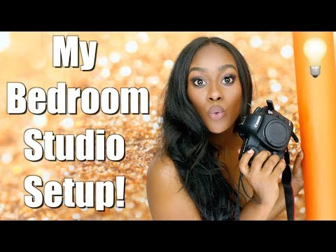 HOW TO CREATE YOUR OWN AT HOME STUDIO/Equipment/ Lighting EVERYTHING!