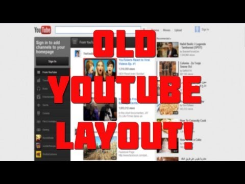 How To Revert Back To Old YouTube Layout! - 2012