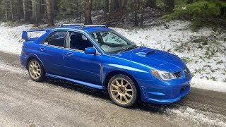 My Cheap WRX STI Gets a new Paint Job and Goes Off-Roading in the Snow