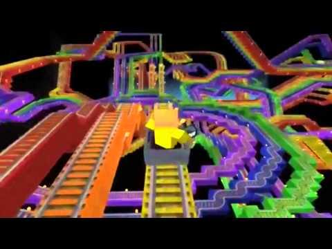 Minecraft Pe [RainBow Rollercoaster]