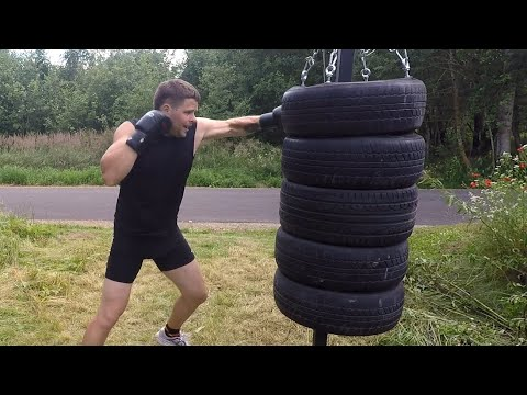 Tire punching bag (How to make)