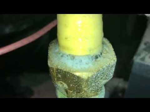 Gas leak meter locked repair and pressure test