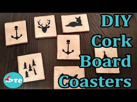 How to make DIY Personalized Cork Board Coasters